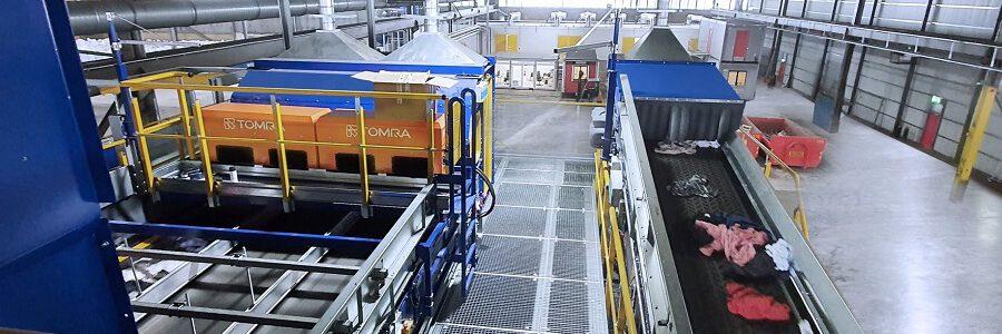 STADLER y TOMRA crean la primera planta de clasificación de residuos textiles totalmente automatizada