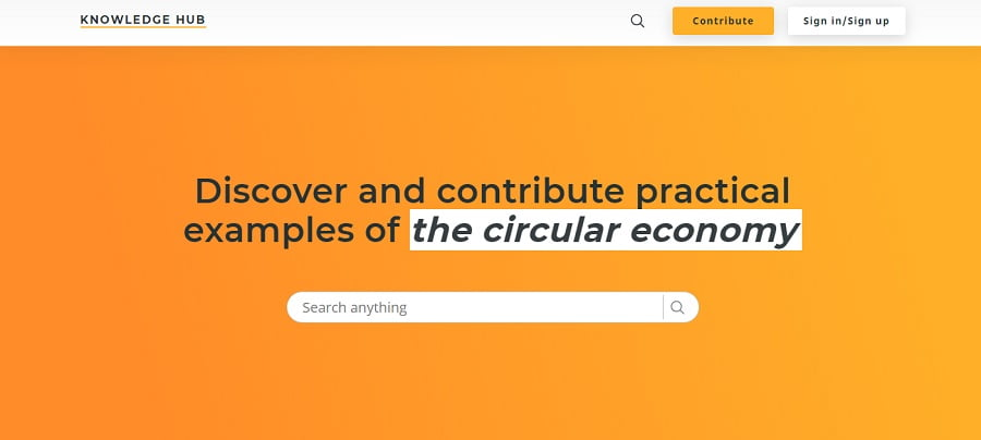 NUeva versión del centro de conocimiento sobre economía circular de Circle Economy
