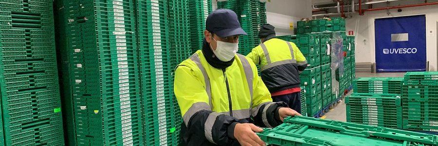 BM Supermercados evita mil toneladas de residuos al año con el uso de cajas reutilizables