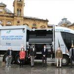 Donostia incorpora un camión 100% eléctrico para la recogida de residuos