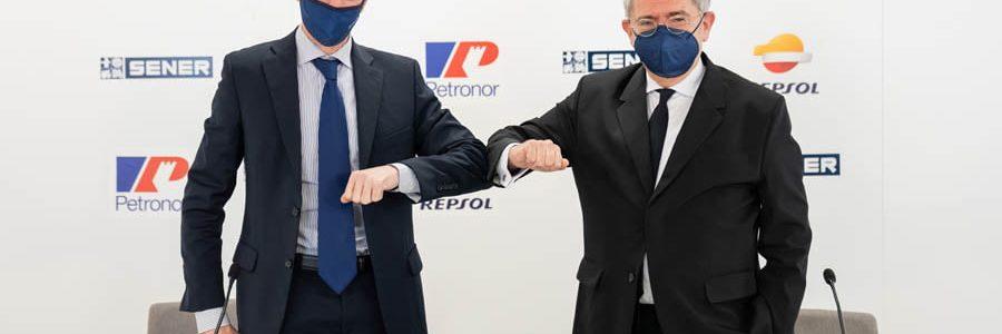 Petronor y SENER formalizan el acuerdo para poner en marcha la primera planta de electrolizadores de España