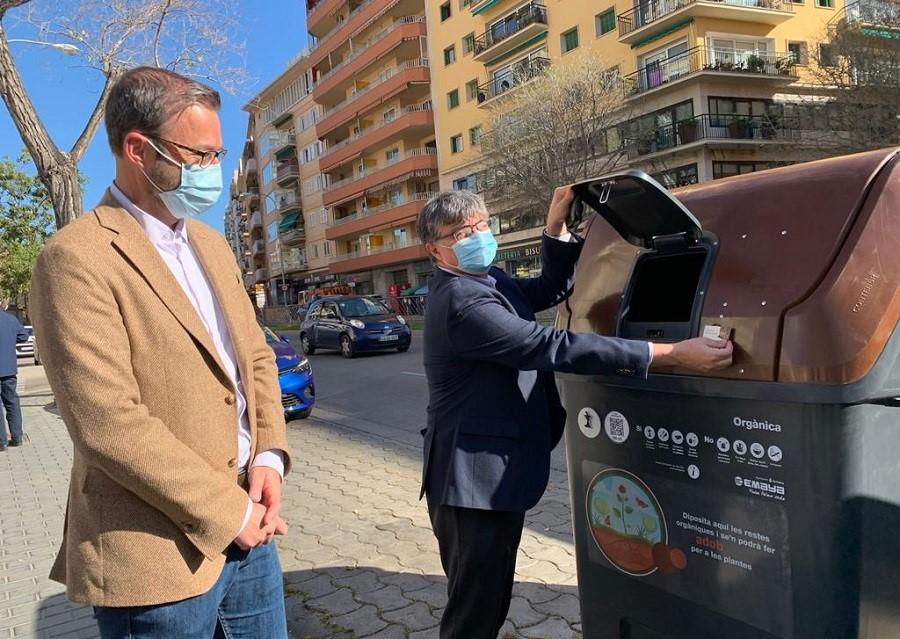 Nuevos contenedores de biorresiduos en Palma