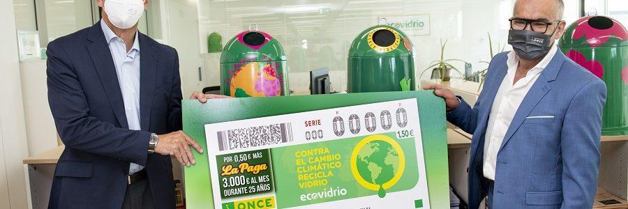 La ONCE y Ecovidrio dedican un cupón especial al reciclaje de envases de vidrio y la lucha contra el cambio climático