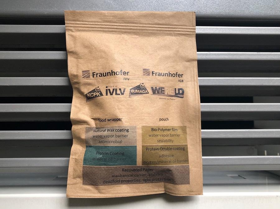 Fraunhofer desarrolla un recubrimiento biodegradable para envases de papel que permite sustituir al plástico