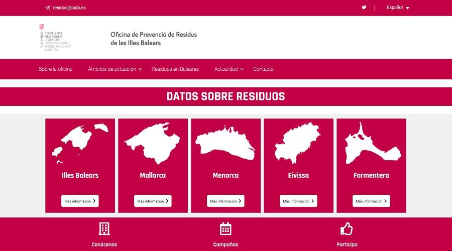 Nueva web sobre prevención de residuos en Islas Baleares