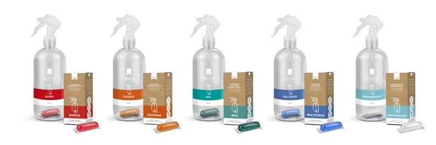 Careli lanza una gama de productos de limpieza en botellas reutilizables