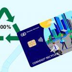 BBVA pone en circulación las primeras tarjetas de plástico 100% reciclado