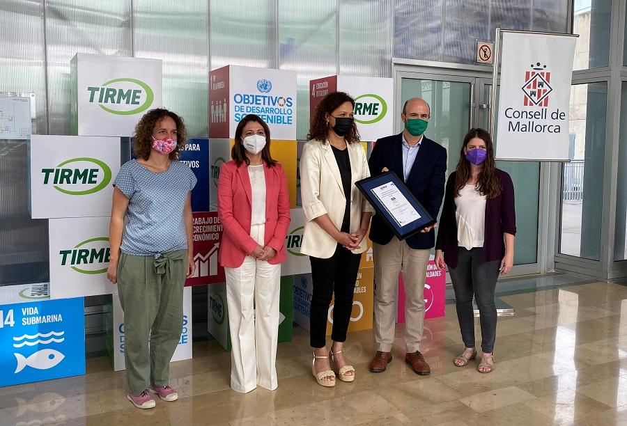 TIRME obtiene el certificado de estrategia de economía circular de AENOR