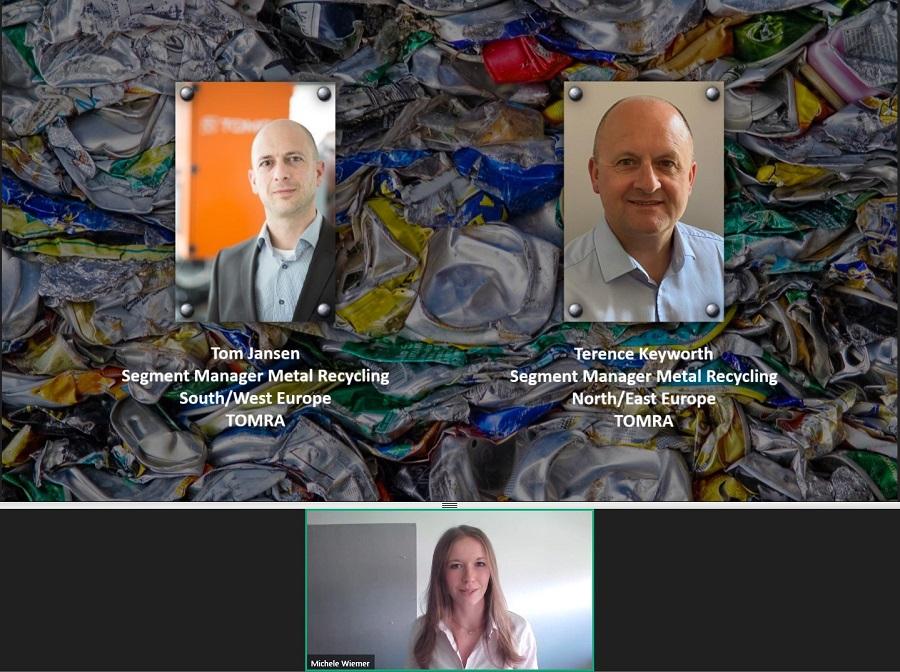 TOMRA organiza su primer webinar sobre clasificación de aluminio