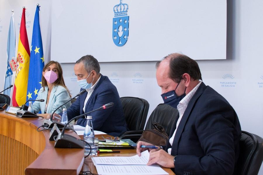 El presidente de Sogama en el Parlamento gallego