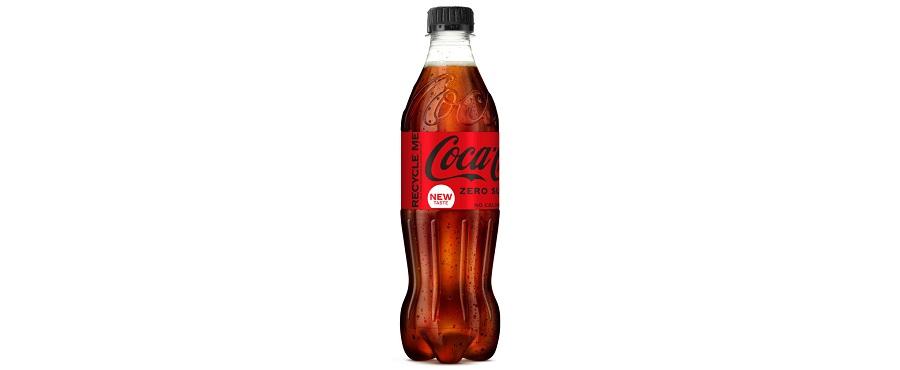 botella de Coca-Cola de plástico 100% reciclado
