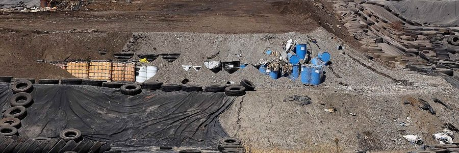 Denuncian un posible vertido de líquidos contaminantes en el vertedero de residuos peligrosos de Nerva
