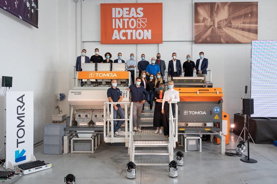 Nuevo centro de pruebas de escamas de plástico de TOMRA