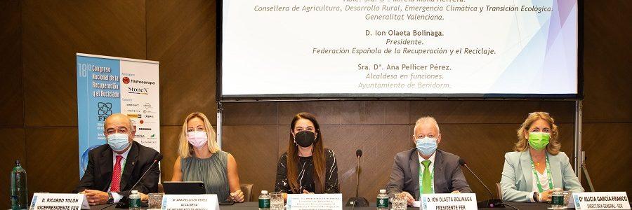 El Congreso de FER reúne en Benidorm a más de 400 representantes de la industria española del reciclaje